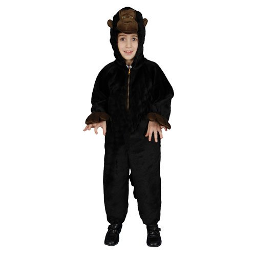 Kids Plush Gorilla Costume Set - Small 4-6