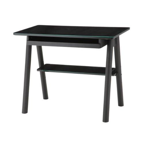 あずま工芸 ガラス デスク 机 テーブル パソコン EDG-1929 ブラック 【代引き不可】 [並行輸入品] インテリ