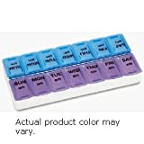 Apex Weekly Pill Organizer, Twice-a-Day, 1 Pill Organizer (Colors May Vary)