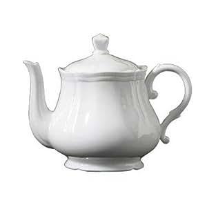 Amazon.com  Richard Ginori Antico Doccia White Tea Pot ...