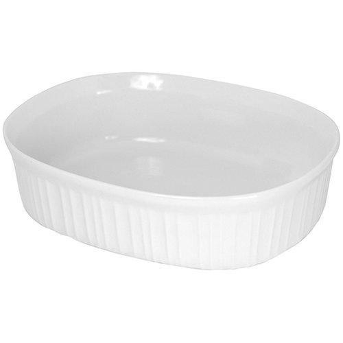 CorningWare French White 2-1/2-Quart Oval Dish