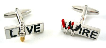 Live Wire Electric Cufflinks
