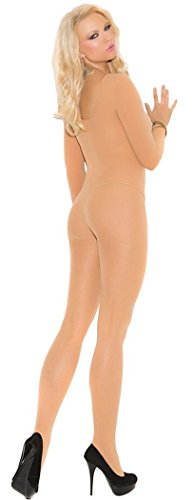 [Blorse Christmas Foxy Babe Long Sleeve Bodystocking(Flesh)] (Witch Coustumes)