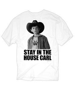 Changes The Walking Dead Stay In The House Carl Men'S T-Shirt, White, Large