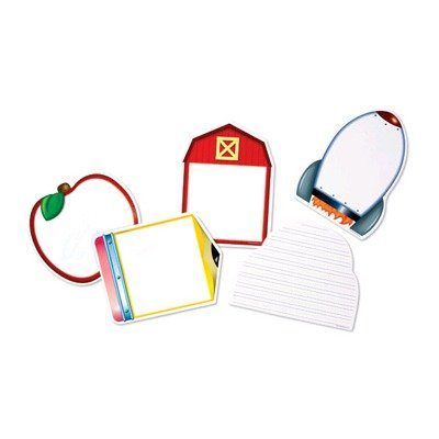 Learning Resources Write and Wipe Board- Assorted - Set of 5