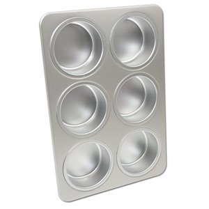 Fat Daddio's Cupcake/Muffin Classic Wheel Shape Snackcake Pan, 6 Cavities (Snack Cake Pan compare prices)