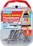 Plasplugs Cavity Anchors for Plasterboard M4x45mm 5 Pack