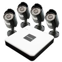 Sale!! LaView 8 Channel Compact Surveillance System with Cloud Storage, 500GB HDD, 4 x 600TVL Bullet...