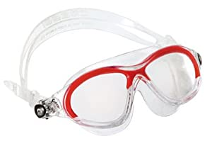 Cressi Cobra Junior Kids Swim Goggles Swimming Mask, Red
