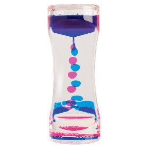 blue and pink liquid motion toy