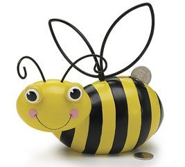 Adorable Ceramic Honey Bee/Bumblebee Piggy Bank Gift Boxed