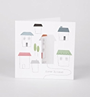 New home Graphic Houses Greeting Card