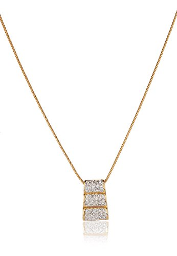 Estelle Estelle Gold Plated Pendant Set With Crystals(368) (Transperant)