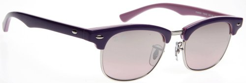 Ray Ban Junior Kids 9050s Violet On Pink Frame/Pink Gradient Mirror Lens Metal/Plastic Sunglasses