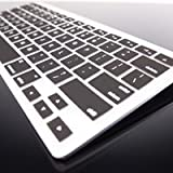 Topcase Silicone Cover Skin for Apple Wireless Keyboard with Mouse Pad - Black