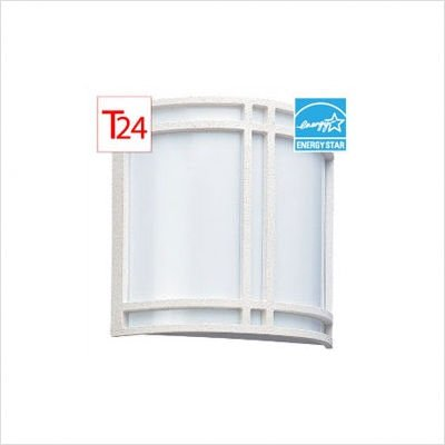 Sea Gull Lighting 4966BLE-15 Two-Light Fluorescent Wall/Bath, Trim - Resin - White,Diffuser - Acrylic - White,Canopy - Steel - White