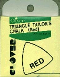 Clover Triangle Tailors Chalk Red 432-R; 3 Items/Order