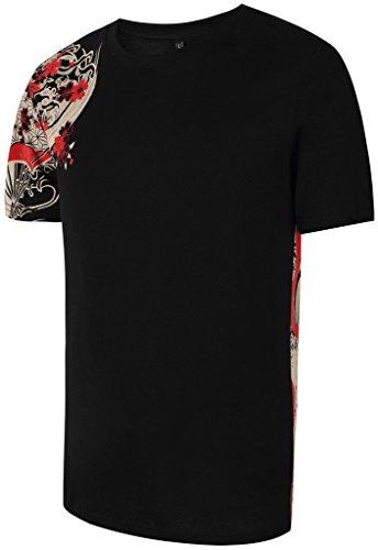 pizoff-herren-t-shirt-japanisches-muster-warura-oraora-system-koi-souvenir-stickerei-karpfen-kletter