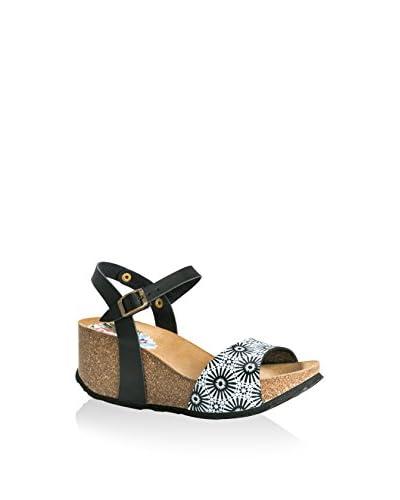 Desigual Sandalo Zeppa Alhambra Bio [Nero/Bianco]