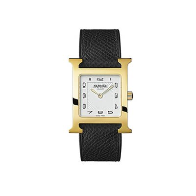 Hermes H Hour Gold Plated Medium Ladies Quartz Watch - 036784WW00