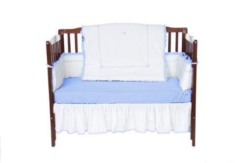 Baby Doll Unique Crib Bedding Set, Blue