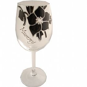 Black Rose Mummy Wine Glass