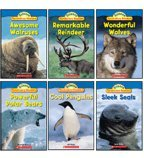 img - for Polar Animals Science Vocabulary Readers 6-Book Set: Awesome Walruses, Cool Penguins, Powerful Polar Bears, Remarkable Reindeer, Sleek Seals, and Wonderful Wolves book / textbook / text book
