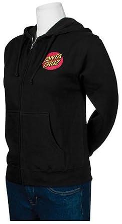 NHS Santa Cruz Classic Dot Hooded Girls Zip Sweats,Black,Small