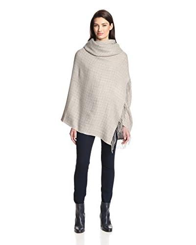 Alicia Adams Women's Wool Wrap, Taupe/Light Grey