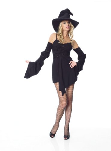 Sexy Classic Witch Dress Costume Womens Halloween