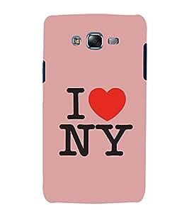 I Love New York 3D Hard Polycarbonate Designer Back Case Cover for Samsung Galaxy J7 J700F (2015 OLD MODEL) :: Samsung Galaxy J7 Duos :: Samsung Galaxy J7 J700M J700H