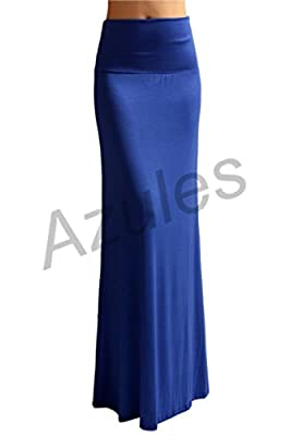 2LUV Women's Rayon Span Floor Length Maxi Skirt