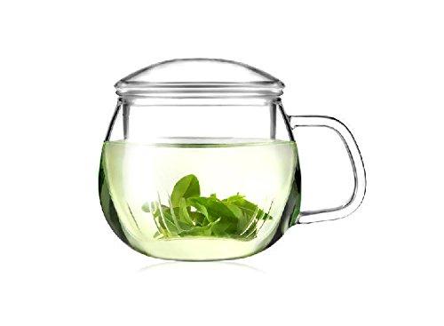 Yeme Clear Glass Teapot/Mug Heat Resistant for GongFu Tea (10.5oz/300ml) B23 (Glass Mug Microwavable compare prices)
