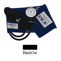 Professional Aneroid Sphygmomanometer by MDF Instruments Direct, BlackOut - 1 Ea