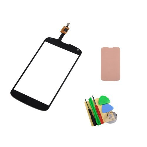 Black Touch Screen Digitizer With Adhesive For Lg Nexus4 E960 front-218289