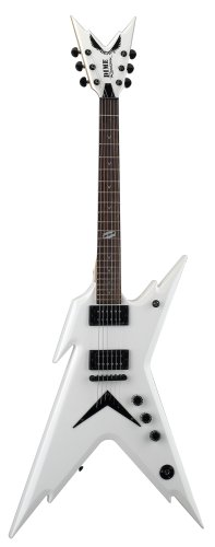 cheap dean razorback guitar dimebag metallic white with case electric guitars cheap price. Black Bedroom Furniture Sets. Home Design Ideas