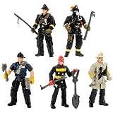 True Heroes Rescue Heroes 4 Inch Action Figure 5-pack - Firemen