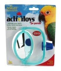 Cheap JW Pet Company Insight Parrot Mirror Large Bird Toy Assorted Colors (B0006JM2EM)
