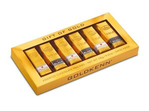 Goldkenn Fine Swiss Chocolate - Milk & Dark Chocolate Mini Gold Bar Gift Box