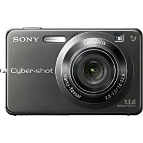 Sony Cybershot DSCW300 13.6MP Digital Camera with 3x Optical Zoom with Super Steady Shot