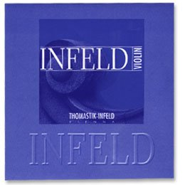 Thomastik Infeld Blue 4/4 Violin String Set - Medium Gauge with Removable Ball End Tin-plated Steel E