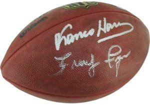 Franco Harris Autographed/Hand Signed Official NFL New Duke Football w/ Fuqua- Steiner Hologram