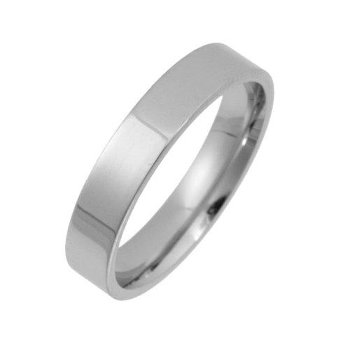 Palladium Wedding Ring, Heavy Weight Court Shape, 4mm Band Width