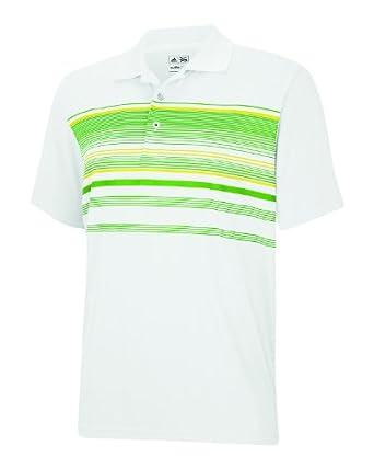 Adidas Golf ClimaCool Chest Multi-Stripe Polo White/Gardena XS