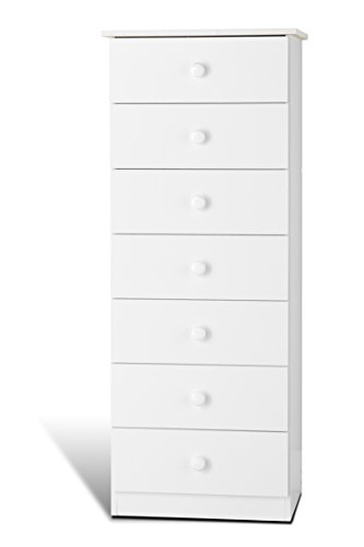 Prepac WHD-2050-7, 7-Drawer Lingerie Chest (White)