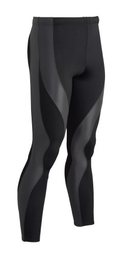 CW-X Men's Perform X Tight Running Pants,Black/Dark Grey,Medium