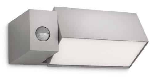 Philips Ecomoods IR-Energiespar-Wandaussenleuchte inklusiv Energiespar Leuchtmittel beweglicher Spotkopf inklusiv Bewegungsmelder Typ J (Erfassungswinkel 140°, Reichweite 6 m) 169438716