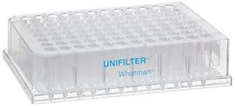 Whatman 7700-2810 Polystyrene 96 Well Unifilter Microplate, With Long Drip Director, 800 microliter, DNA Binding Filter Media