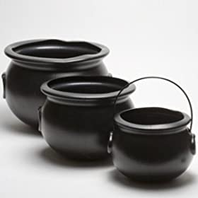 Witch Kettle/Cauldron (black) Set of 6 Various Sizes Halloween Accessory (B949ABCDE)