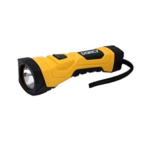 Dorcy 41-4750 190-Lumen High Flux LED Cyber Light Flashlight with Alkaline Batteries, Yellow